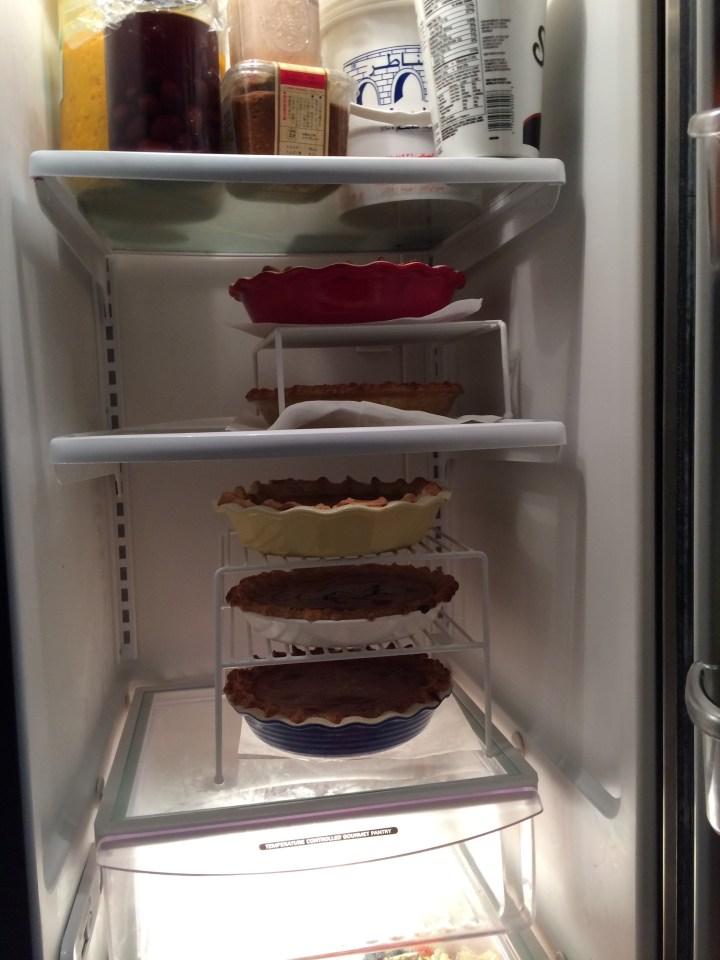 fridge full of pies