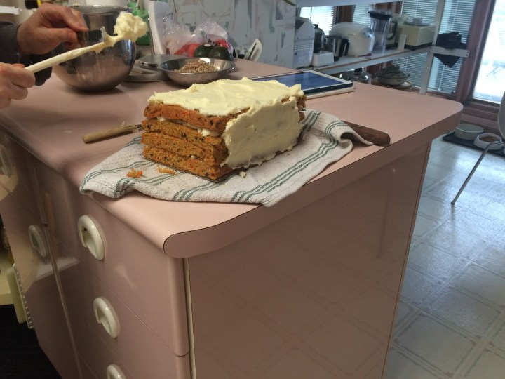 unfinished carrot cake