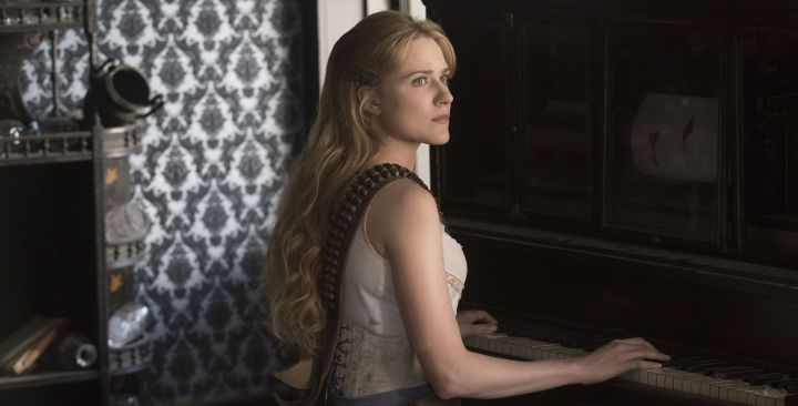 Dolores at piano