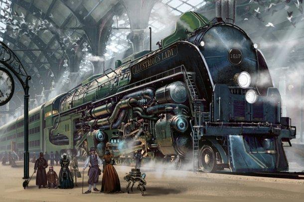 steampunk-train-by-ben-wootten