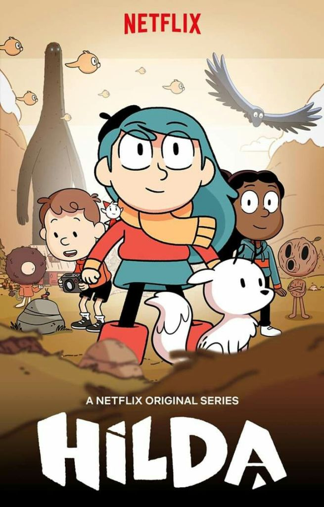 Cartoon characters from the show Hilda.