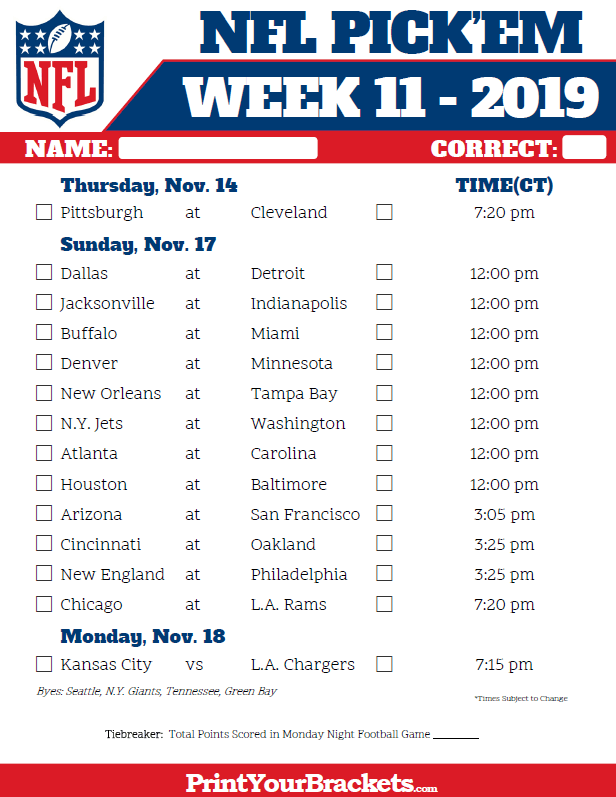 central-time-week-11-nfl-schedule