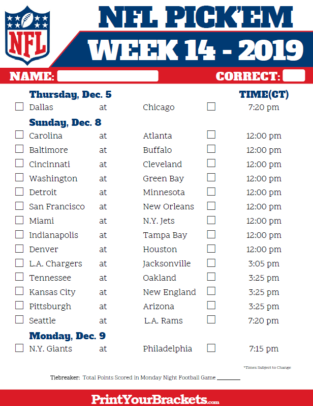 central-time-week-14-nfl-schedule