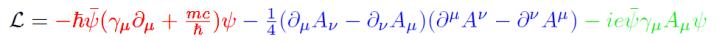 QED Lagrangian color
