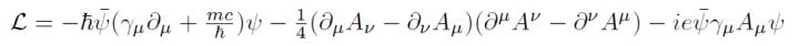 QED Lagrangian