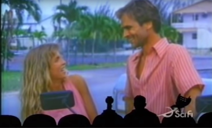 "mst3k main characters in ""Devil Fish"" laughing"
