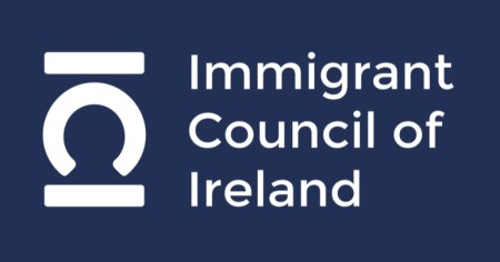 "The logo of the Immigrant Council of Ireland, which offers ""assistance to people from a migrant background""."