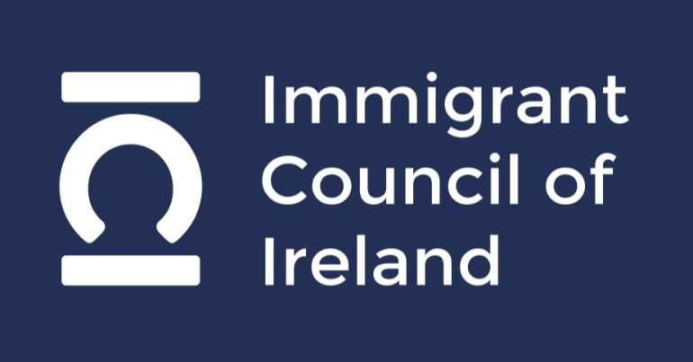 """The logo of the Immigrant Council of Ireland, which offers """"assistance to people from a migrant background""""."""