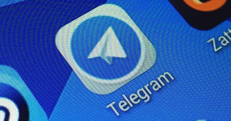 A photo of the encrypted messaging app, Telegram.