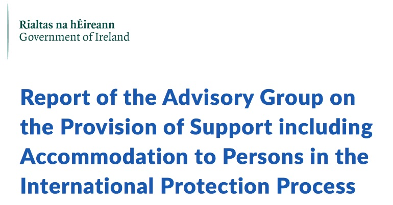 A photo of the cover of the Day Report which has made recommendations on ending the direct provision system in Ireland.