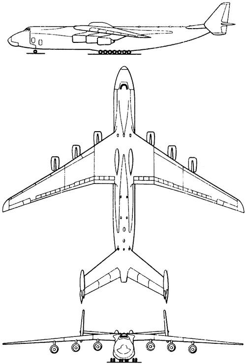 Antonov An-225 Mriya : antonov, an-225, mriya, Blueprints, Modern, Airplanes, Antonov, An-225, Mriya