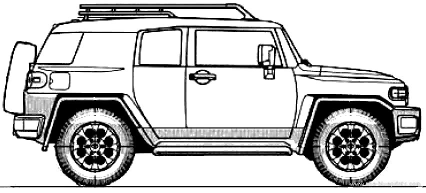 Toyota fj cruiser drawings