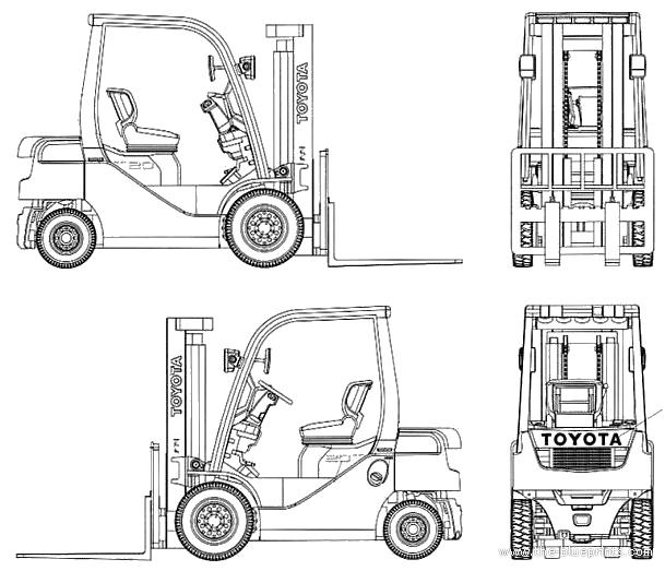 Toyota forklift blueprint