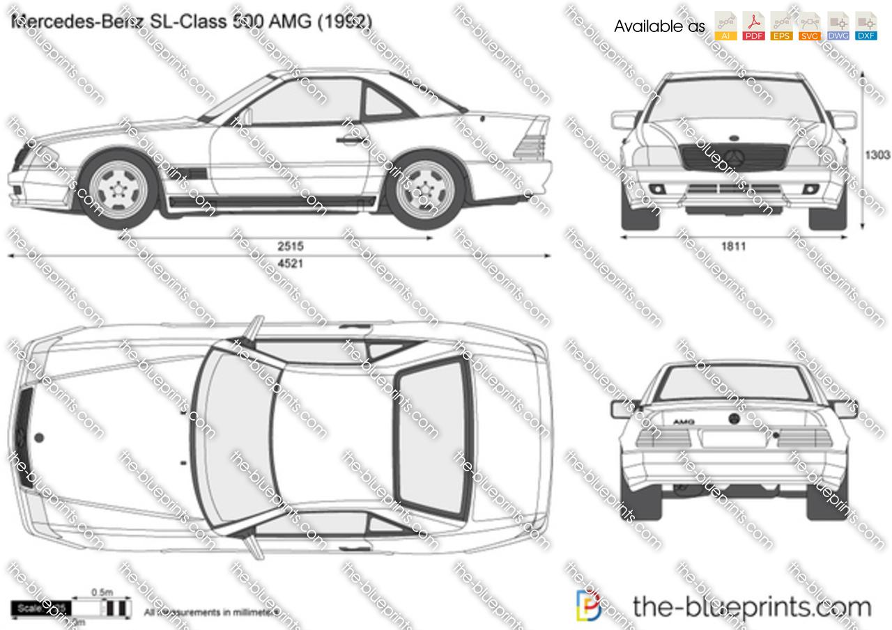 Mercedes benz r129 dimensions
