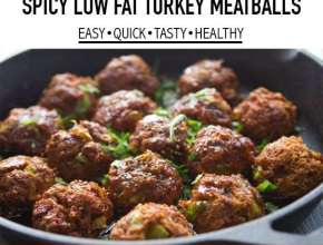 spicy low fat turkey meatballs recipes