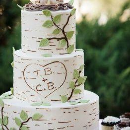 Cvet svadby zeleny tort (14)