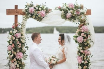 Любовь цвета пудры: свадьба Анастасии и Владимира