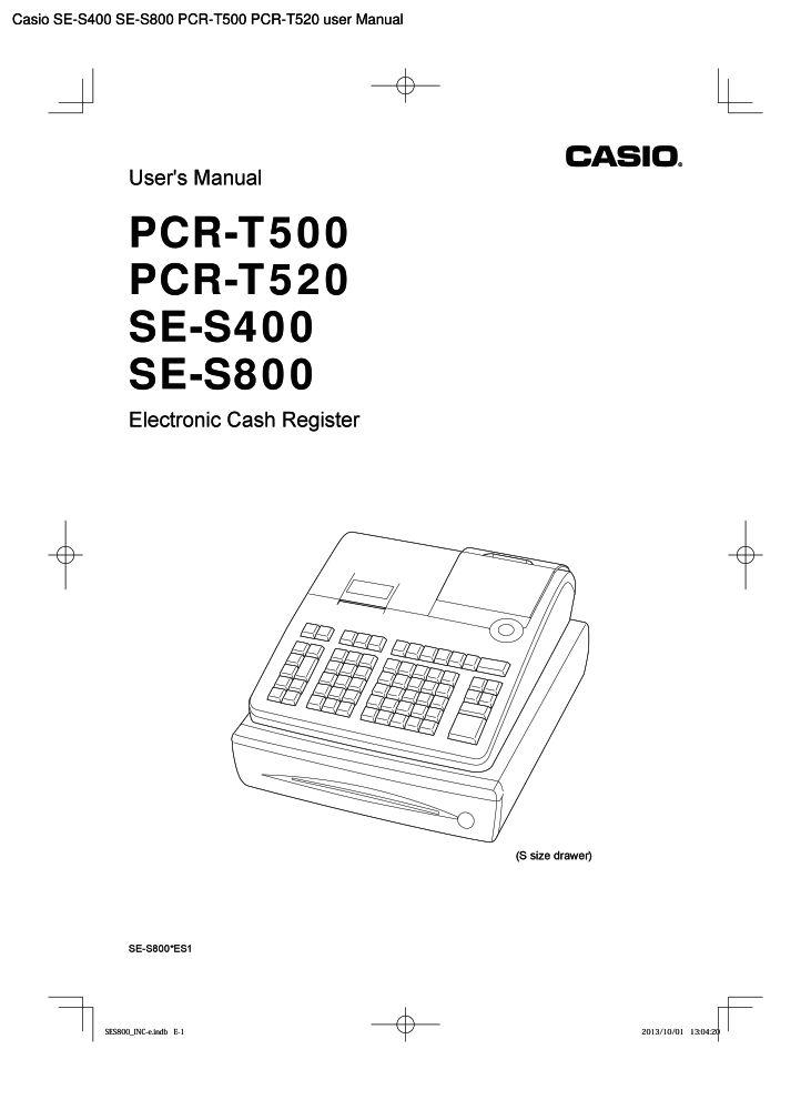 Bedienungsanleitung Casio Se S400