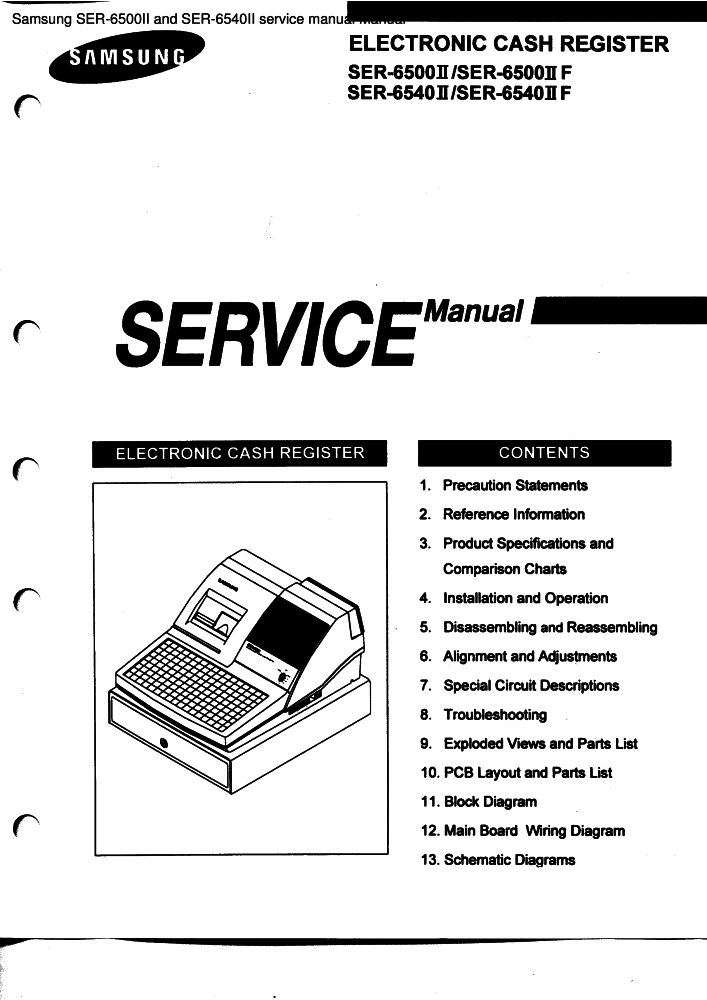 Samsung SER-6500II and SER-6540II service manual manual