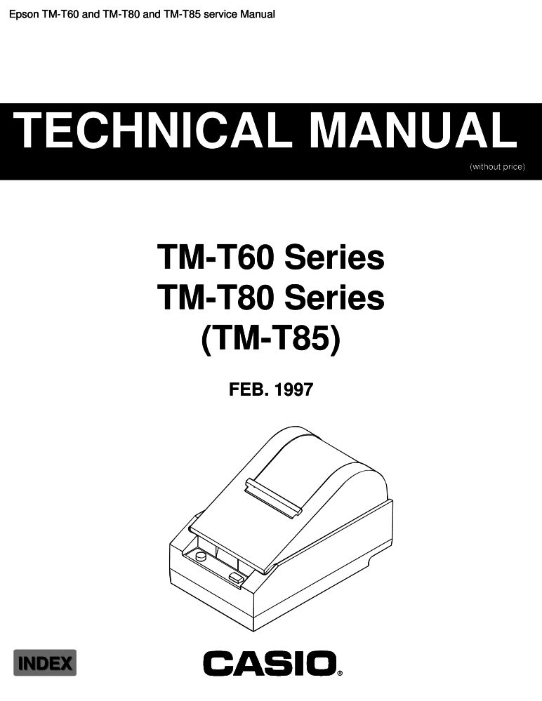 Epson TM-T60 and TM-T80 and TM-T85 service manual PDF
