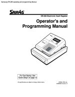 Samsung ER-260 ER-265 operating and programming AU ver
