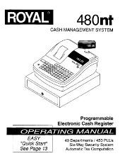 Royal 480nt user programming manual PDF