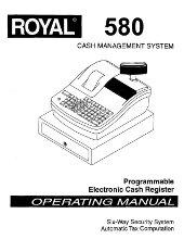 Royal Alpha-580 instruction programming manual PDF
