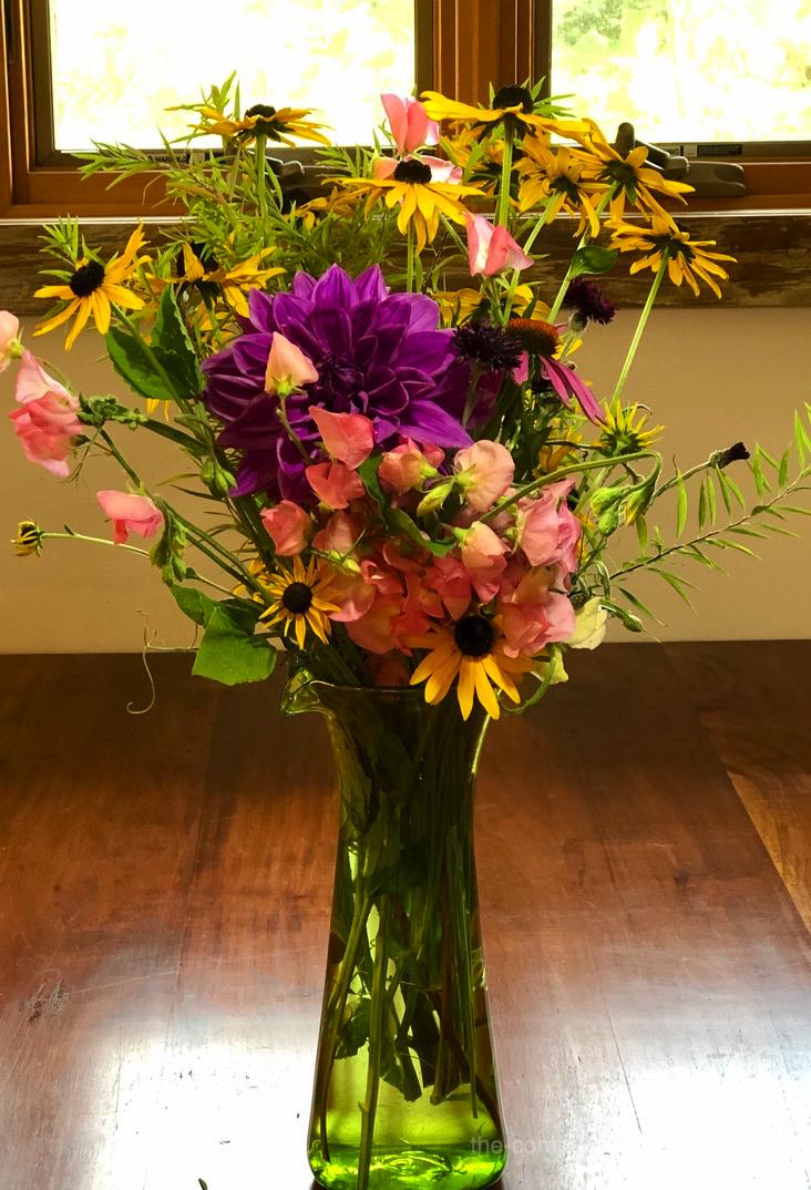 Garden Floral Bouquet | dahlia, rudbeckia, sweet peas, lemon verbena