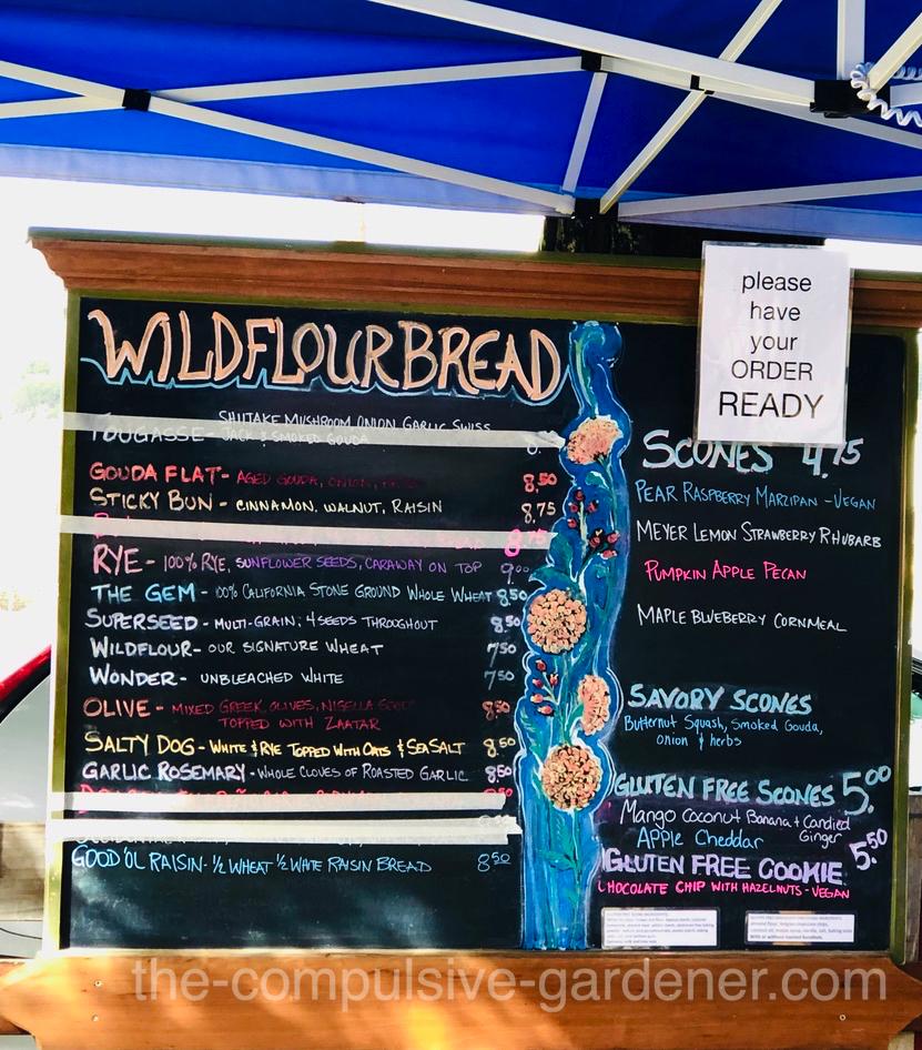 Wildflour Bakery Menu.... oh YUM!