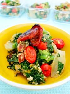 Big Breakfast Paleo Scramble Chorizo and Kale
