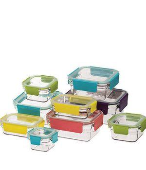 Glasslock Oven Safe Tempered Glass Set 9pc