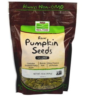 Now Foods, Real Food, Raw Pumpkin Seeds, Unsalted