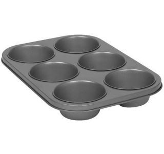 Bakers Secret Texas Cafe Muffin Pan 6 Cup