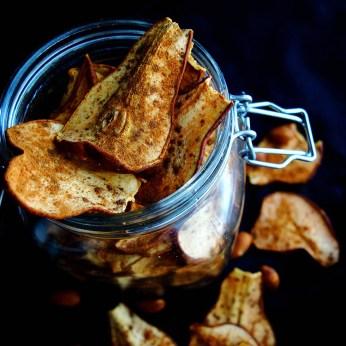 Dehydrated Cinnamon Spiced Pear Crisps