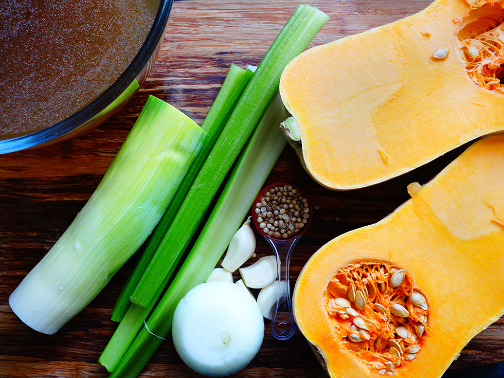 Curry Spiced Pumpkin Anti-Inflammatory Pressure Cooker Soup Ingredients
