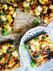Spinach and Feta Hash Brown Quiche