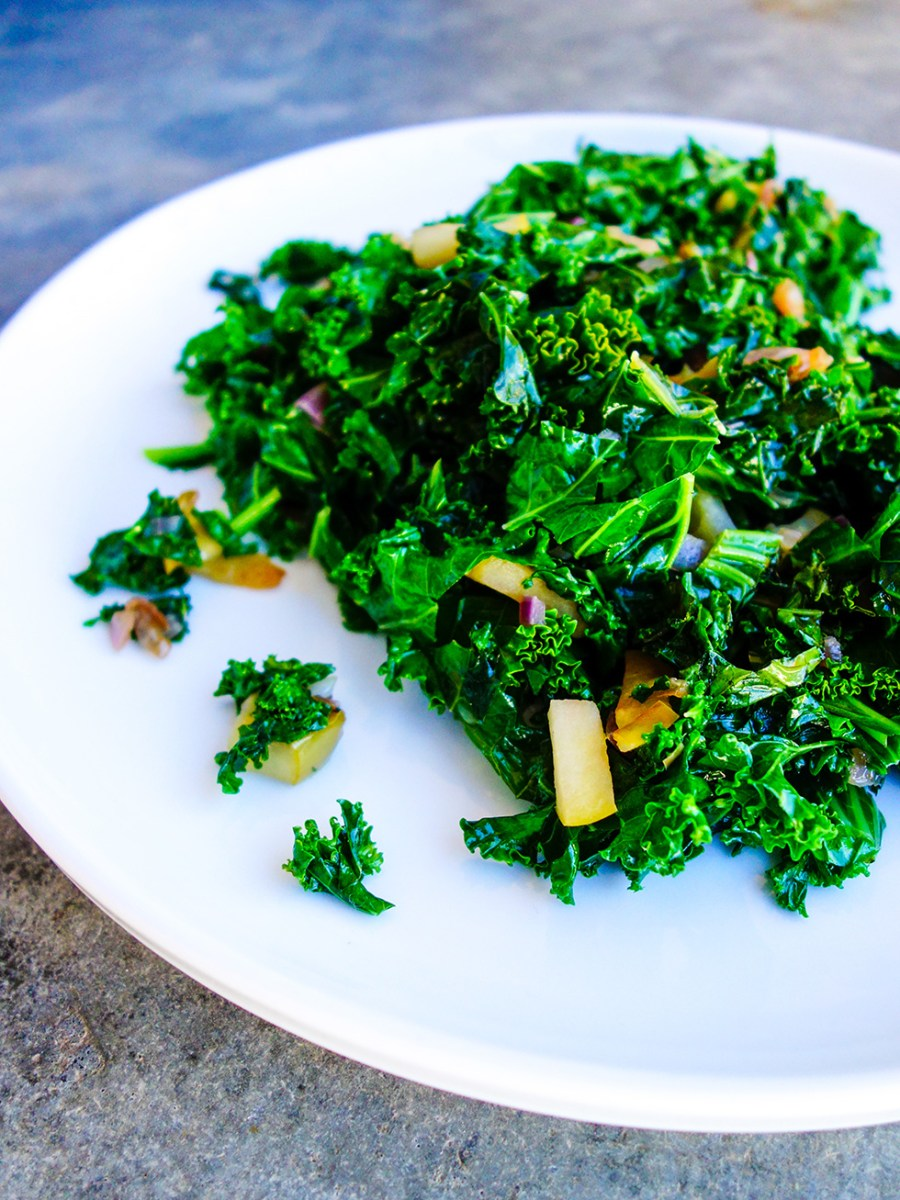 Sautéed Apple and Kale
