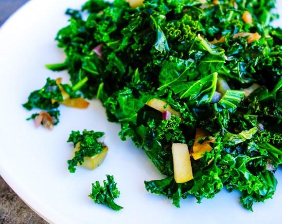Sautéed Apple and Kale