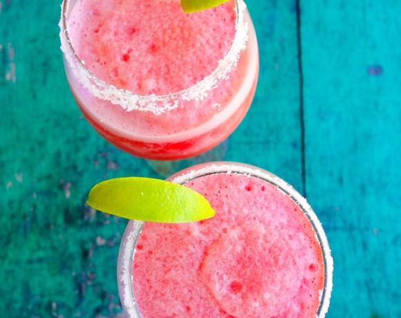 Virgin Watermelon Lime Margaritas
