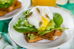 Poached Egg and Avocado on Toast 5 minute meals