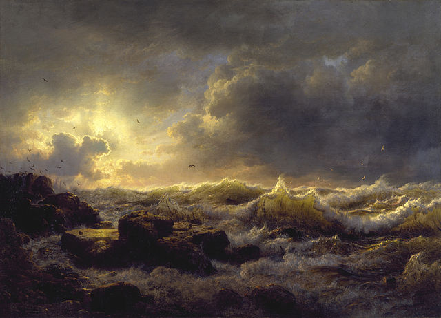 Andreas Achenbach, Clearing up. Coast of Sicily, 1847