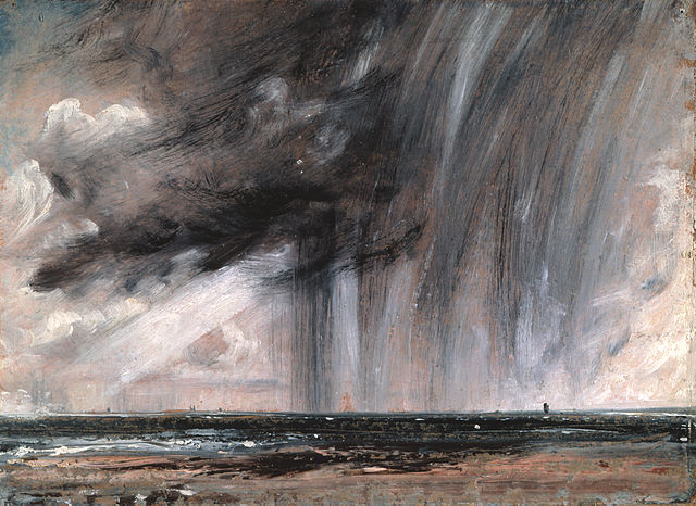 John Constable, Seascape Study with Rain Cloud, c. 1824