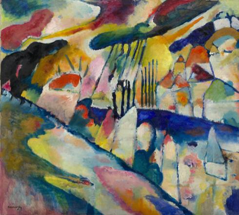 Wassily Kandinsky, Landscape with rain, 1913