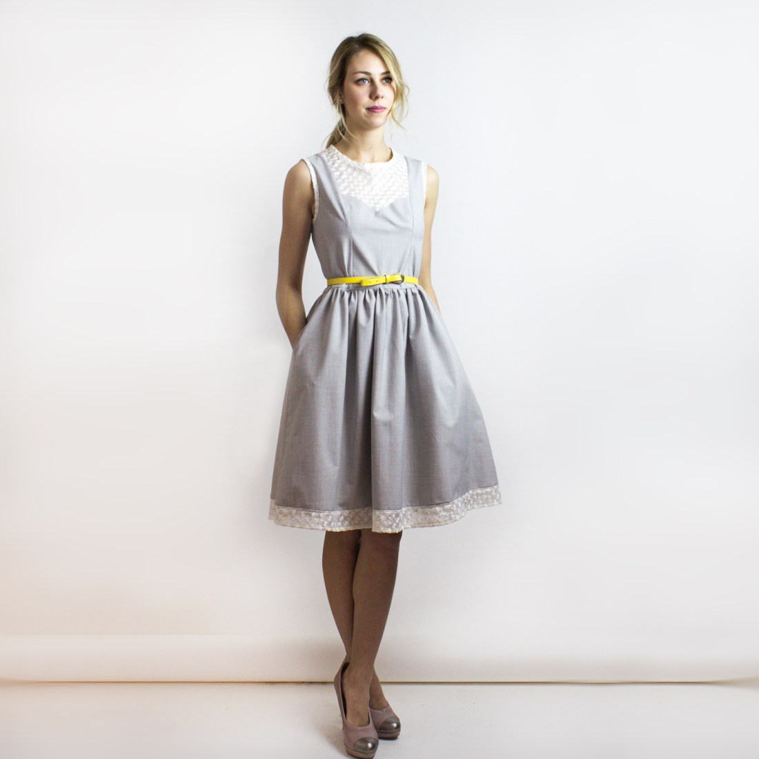Ginger New Look Garden Party Dress from Simone's Rose SS16 Collection | eco-conscious and sustainable women's fashion label made in downtown Toronto