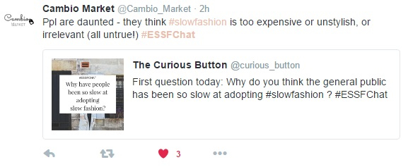 #ESSFChat Highlights | Twitter chat about ethical, sustainable and slow fashion | The Curious Button