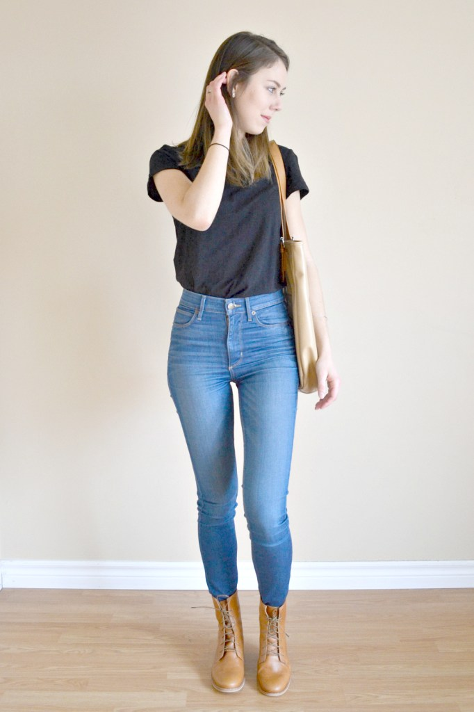Love Justly - Discounted Ethical Fashion | The Curious Button | Outfit details: Simone's Rose tee, #30wears jeans, Fortress of Inca boots.