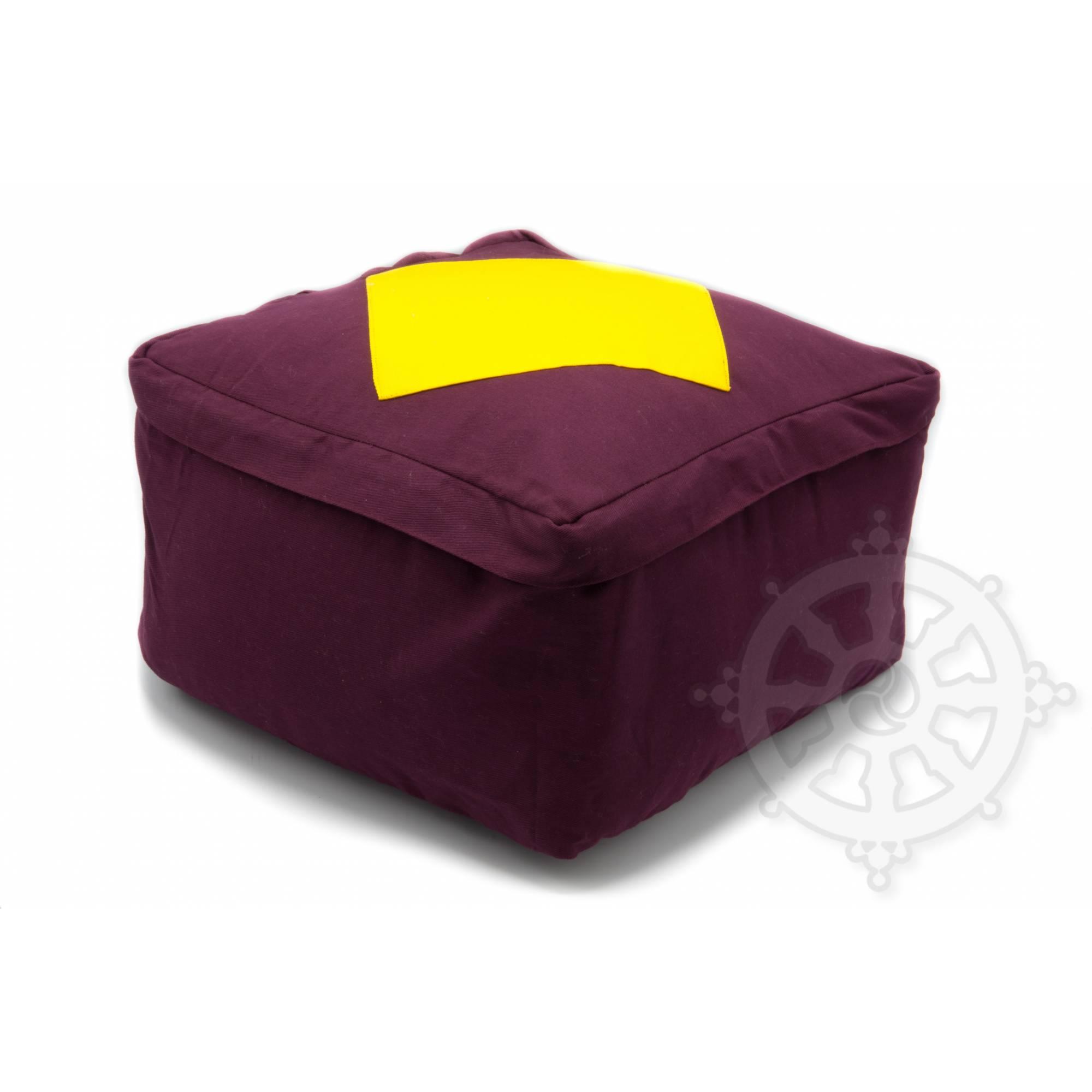 Coussins CarrÉs QualitÉ Sup H 20 X L 30 X L 30 Cm Violet Avec Losange Jaune b4066bba049