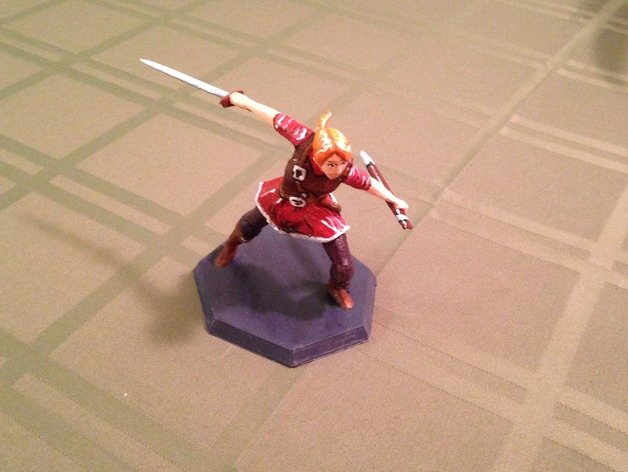 """3-D printed and painted """"female knight"""" by Stockto"""