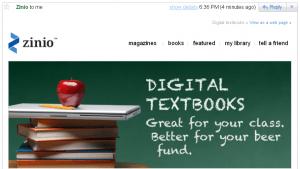 Zinio now pitching digital textbooks eBookstore