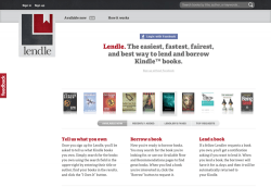 Yet another site for ebook lending - Lendle Digital Library